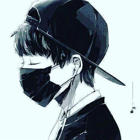 anime boy with headphones