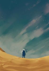 allen wallker and tincapy in the desert d gray man