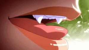 Top 20 Best Vampire Anime of All Time Oshino Shinobu's Close Up Fang Lick nisemonogatari-06