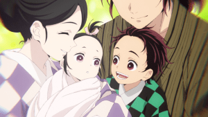 Who was Tanjiro and Nezuko Kamado's Father Tanjiro_and_Nezuko_as_babies with their mum and dad (Feature image)
