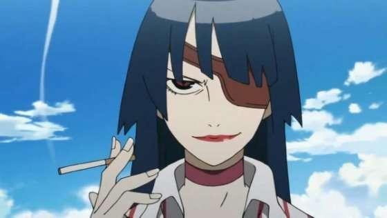 Adiane_the_Elegant-Anime-Girls-With-an-Eyepatch-smiling-with-smoke-Gurren-Lagann