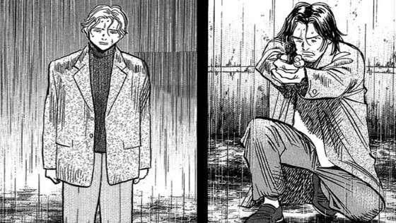 monster-manga-main-cast-Liebert-Johan-Tenma-Kenzou-looking-at-each-other