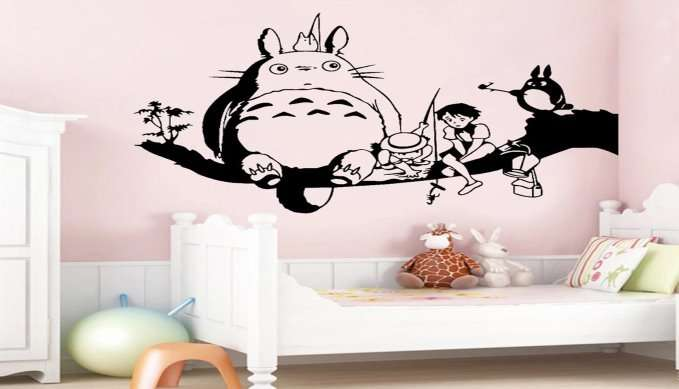 Totoro-Wall-Sticker-Kids-Room-Decoration-Japanese-Anime-Vinyl-Decal-Nursery-Wall-Decor-Cute-Cartoon-Childlike